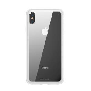 Купить Стеклянный чехол Baseus See-Through White для iPhone XS Max