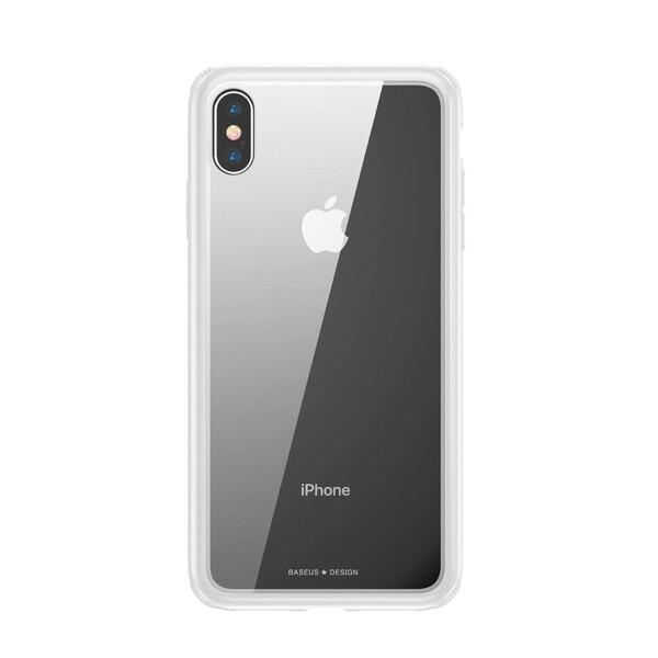 Стеклянный чехол Baseus See-Through White для iPhone XS Max