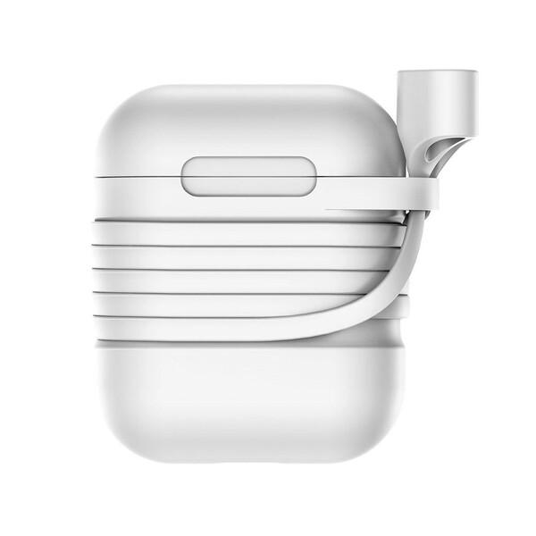 Силиконовый чехол с шнурком Baseus Silicone Case Gray для Apple AirPods
