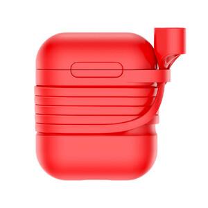 Купить Силиконовый чехол с шнурком Baseus Silicone Case Red для Apple AirPods