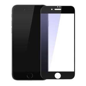 Купить Защитное стекло Baseus Silk-Screen Anti-Blue Light 0.2mm Black для iPhone 7/8