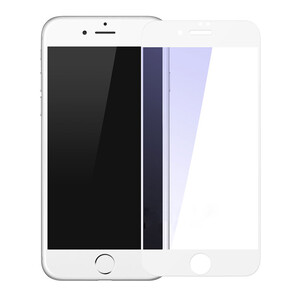 Купить Защитное стекло Baseus Silk-Screen Anti-Blue Light 0.2mm White для iPhone 7/8