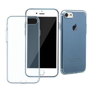 Купить Защитный чехол Baseus Simple Series With Pluggy Transparent/Blue для iPhone 7
