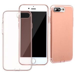 Купить Защитный чехол Baseus Simple Series With Pluggy Transparent/Rose Gold для iPhone 7 Plus