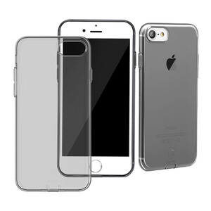 Купить Защитный чехол Baseus Simple Series With Pluggy Transparent/Black для iPhone 7/8