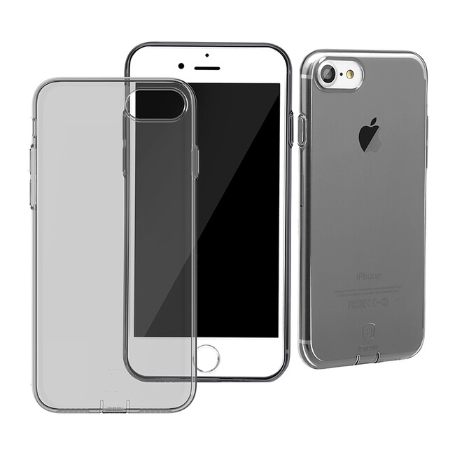 Защитный чехол Baseus Simple Series With Pluggy Transparent/Black для iPhone 7