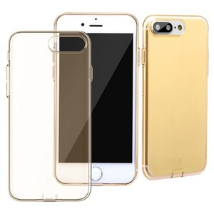 Купить Защитный чехол Baseus Simple Series With Pluggy Transparent/Tyrant Gold для iPhone 7 Plus