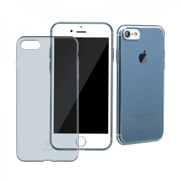Защитный чехол Baseus Simple Series Transparent/Blue для iPhone 7