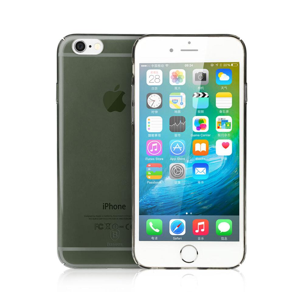 Ультратонкий пластиковый чехол Baseus Sky Case Black для iPhone 6s/6