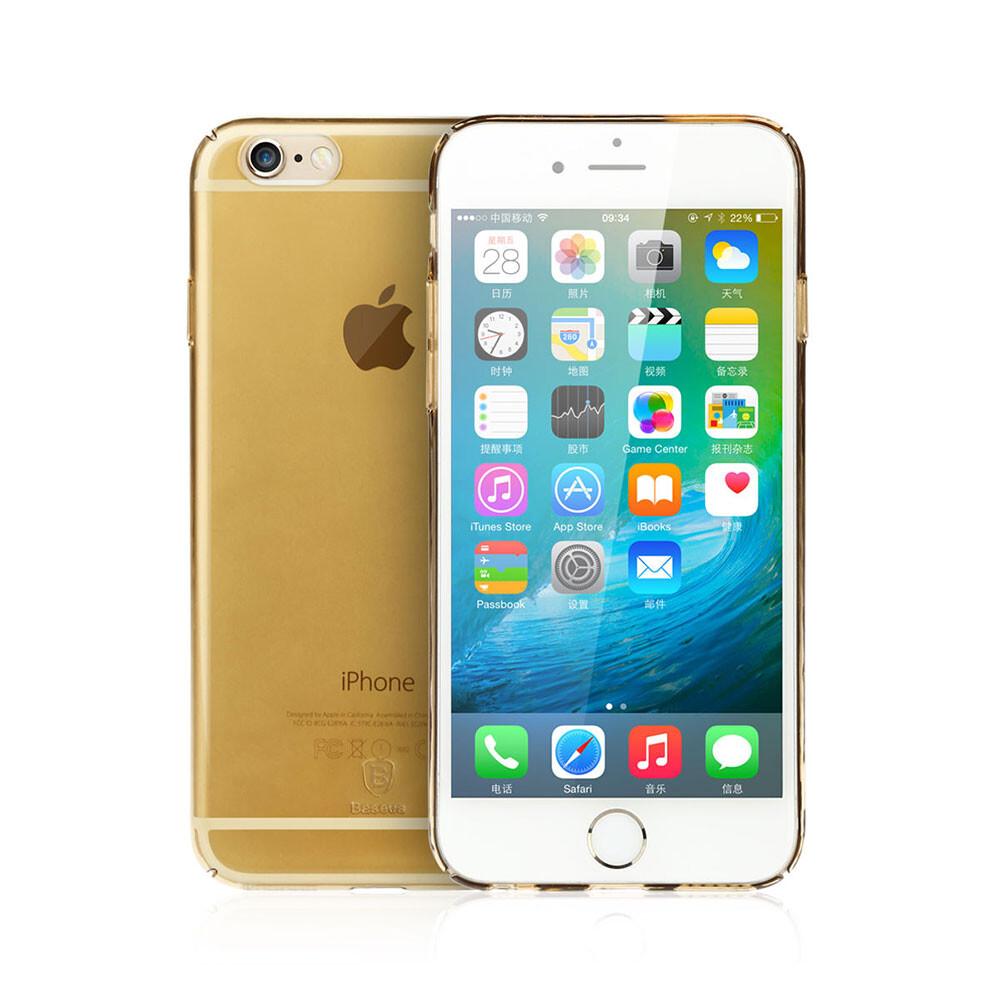 Ультратонкий пластиковый чехол Baseus Sky Case Gold для iPhone 6s/6