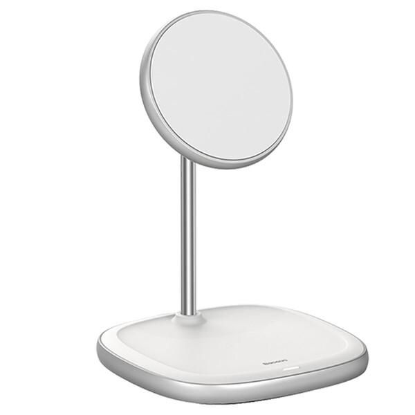 Док-станция Baseus Swan Magnetic Desktop MagSafe White для iPhone 12 mini | 12 | 12 Pro | 12 Pro Max