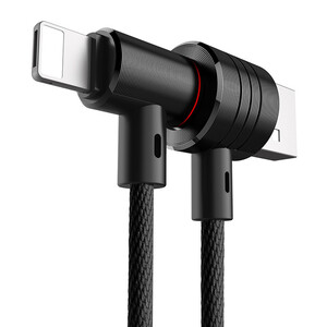 Купить Магнитный кабель Baseus T-Type 2-in-1 Black Lightning/Micro USB to USB