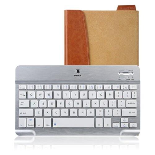 "Кожаный чехол с клавиатурой Baseus Tron Brown для iPad Air/mini/9.7"" (2017/2018)"
