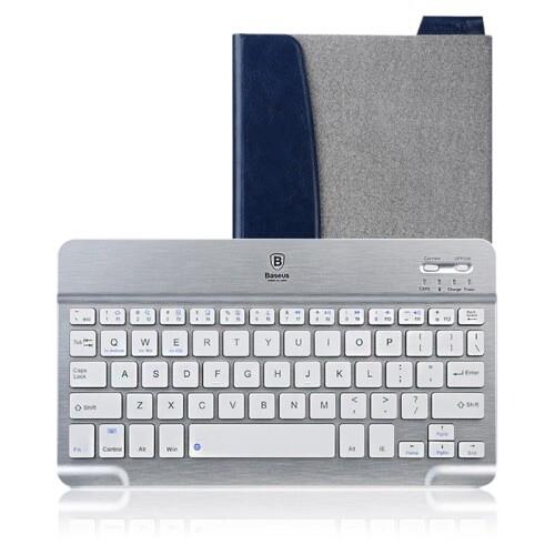 "Кожаный чехол с клавиатурой Baseus Tron Grey для iPad Air/mini/9.7"" (2017)"