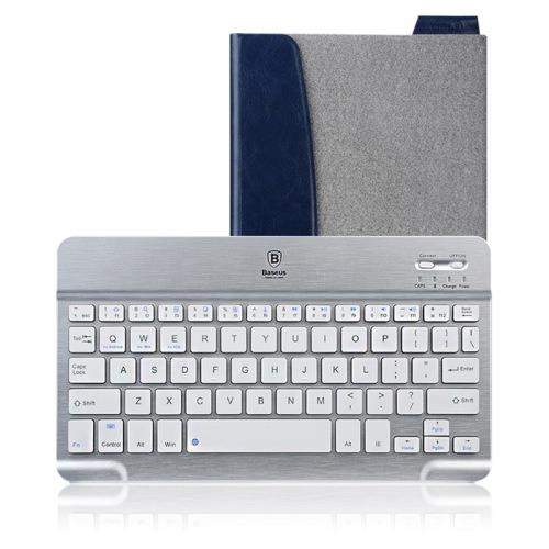 Кожаный чехол с клавиатурой Baseus Tron Grey для iPad Air/mini