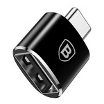 Переходник Baseus USB to USB Type-C Black