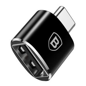 Купить Переходник Baseus USB to USB Type-C Black