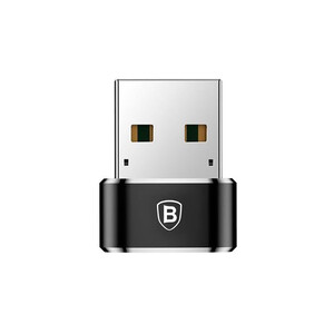 Купить Переходник Baseus Mini USB to USB Type-C Black