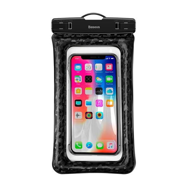 """Универсальный водонепроницаемый чехол Baseus Waterproof Bag Black для смартфонов до 6"""""""