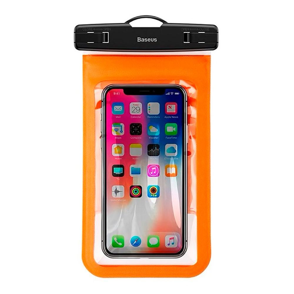 """Купить Универсальный водонепроницаемый чехол Baseus Waterproof Bag Orange для смартфонов до 5.9"""""""