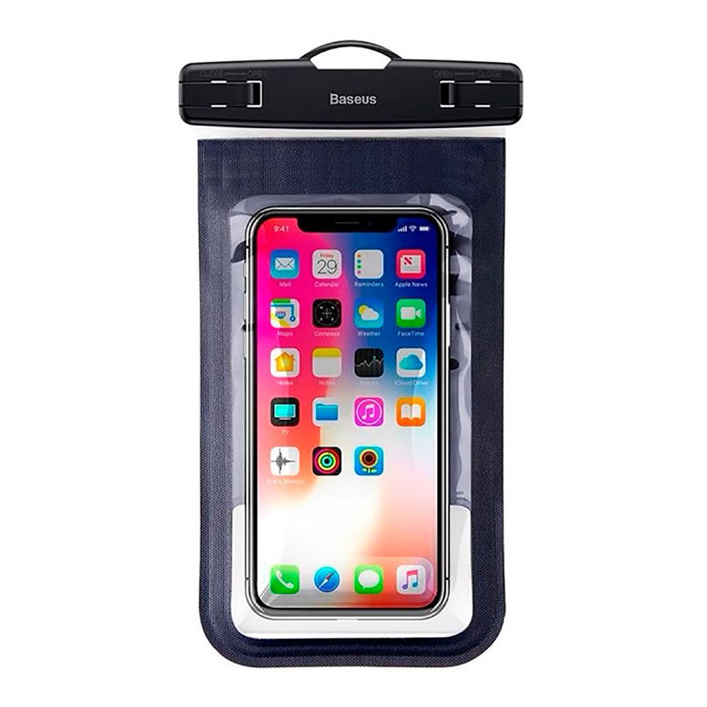 """Купить Универсальный водонепроницаемый чехол Baseus Waterproof Bag Dark Blue для смартфонов до 6"""""""