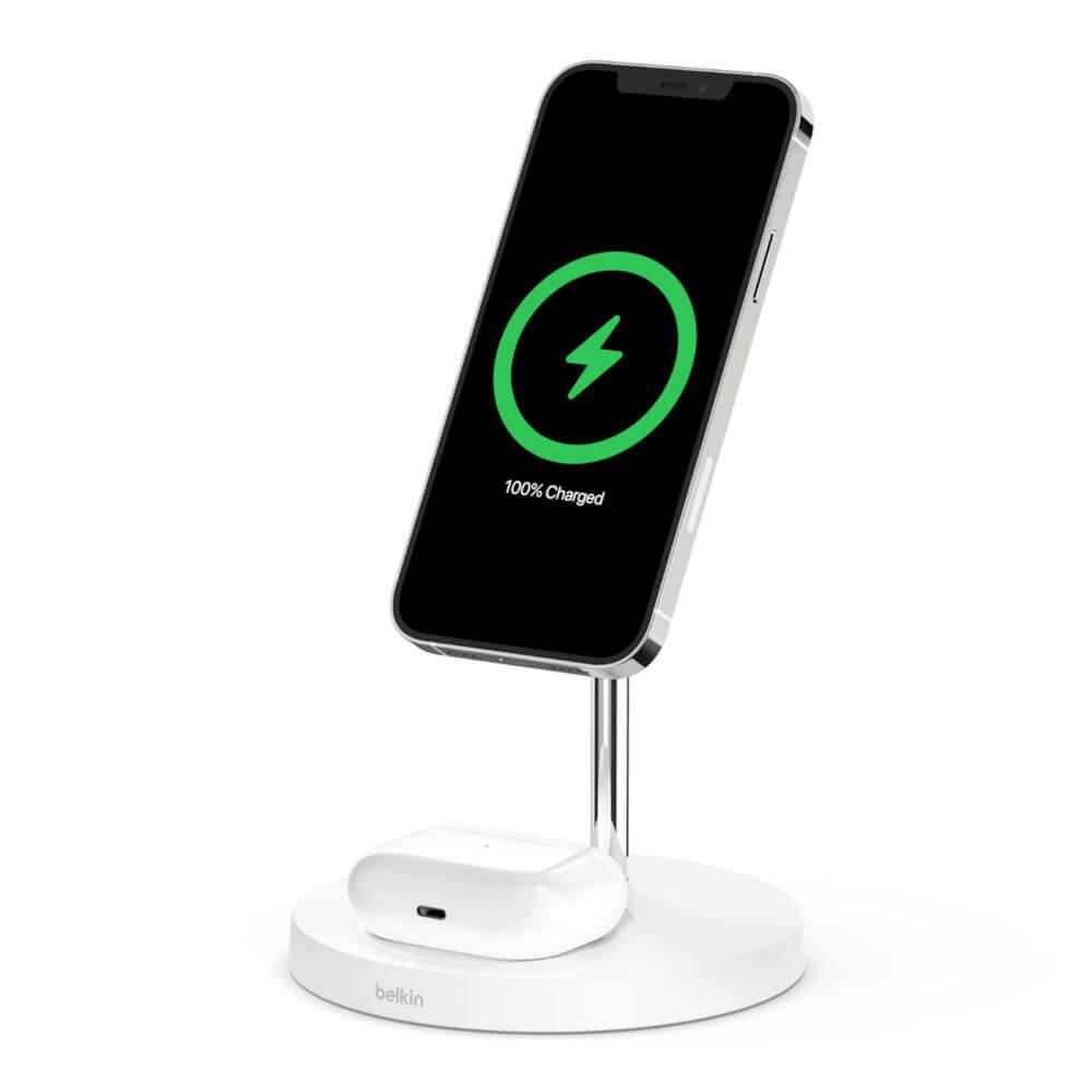 Купить Док-станция Belkin 2-in-1 Wireless Charger with MagSafe White для iPhone   AirPods