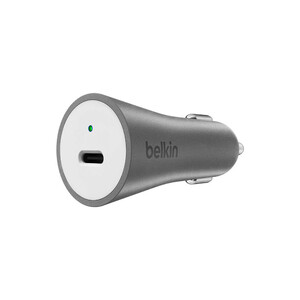 Купить Автозарядка Belkin 27W USB-C Car Charger Metallic Gray с кабелем USB-C to USB-C