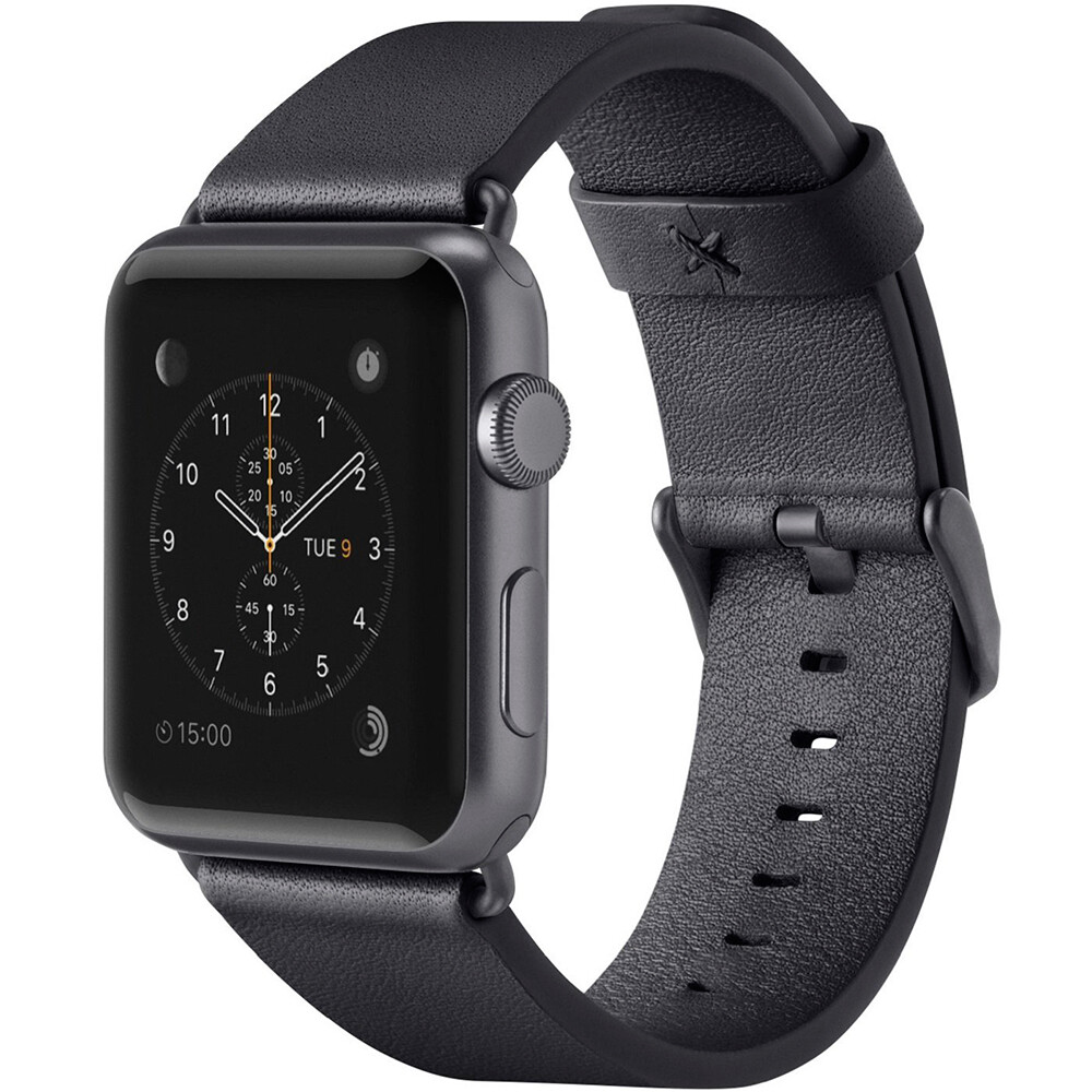 Ремешок Belkin Classic Leather Band Black для Apple Watch 42mm/44mm Series 1/2/3/4