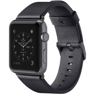 Купить Ремешок Belkin Classic Leather Band Black для Apple Watch 42mm Series 1/2/3