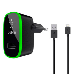 Купить Зарядное устройство Belkin Dual USB Home Charger Black with Lightning Cable (10 Watt/2.1 Amp)