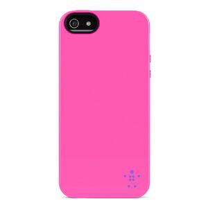 Купить Чехол-накладка Belkin Grip Neon Glo Pink для iPhone 5/5S/SE