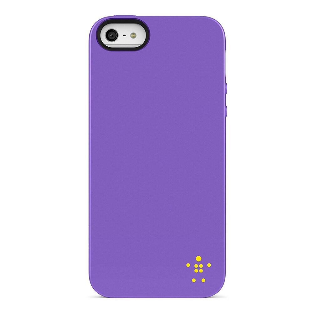 Чехол-накладка Belkin Grip Neon Glo Purple для iPhone 5/5S/SE