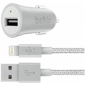 Купить Автомобильное зарядное устройство Belkin Mixit Metallic Car USB 2.4A + Lightning Cable