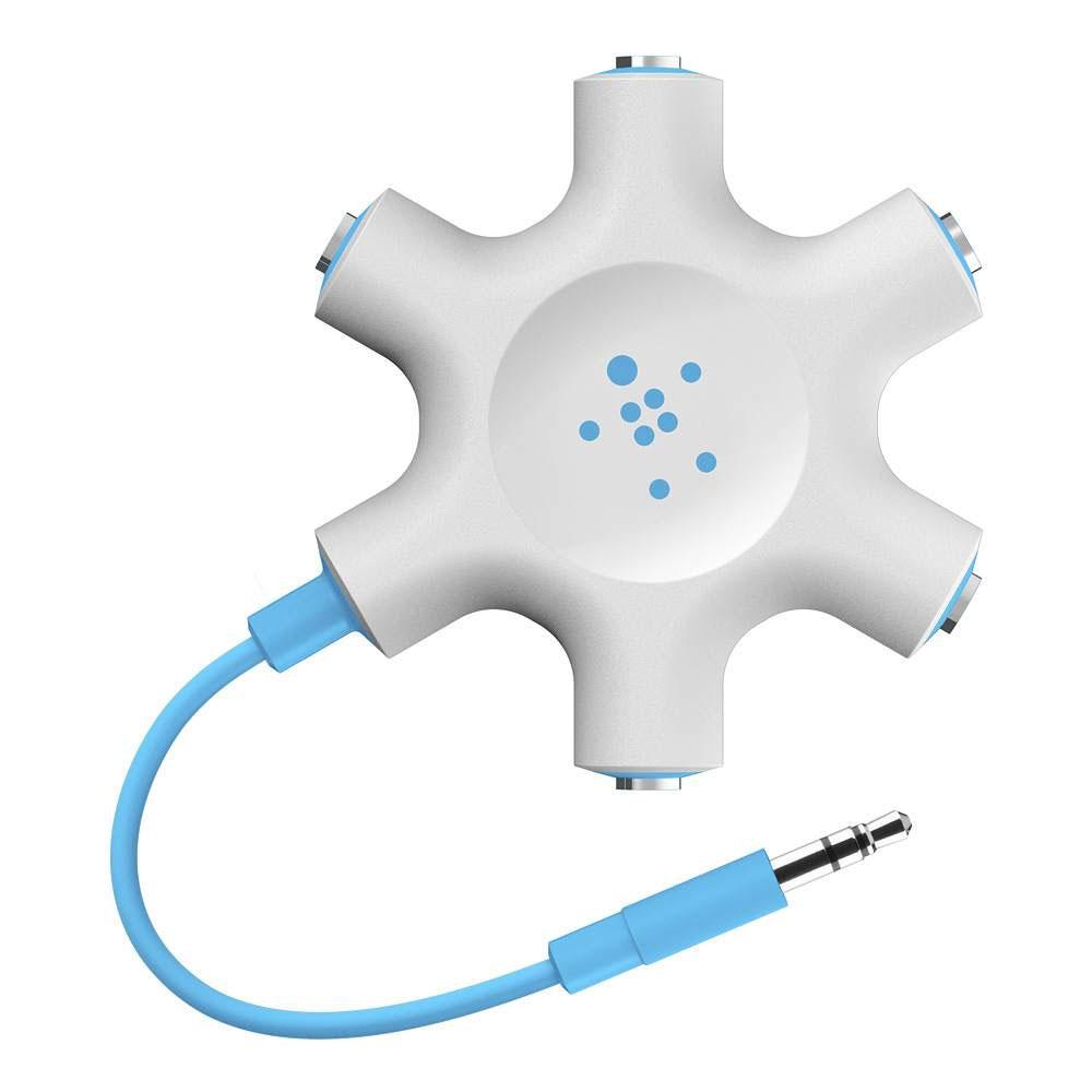 Купить Разветвитель для наушников Belkin Rockstar White | Blue
