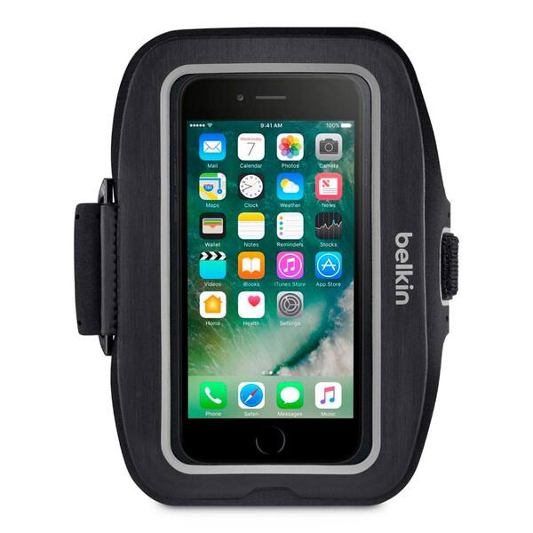Спортивный чехол Belkin Sport-Fit Plus Armband Blacktop для iPhone 6 | 6s | 7 | 8