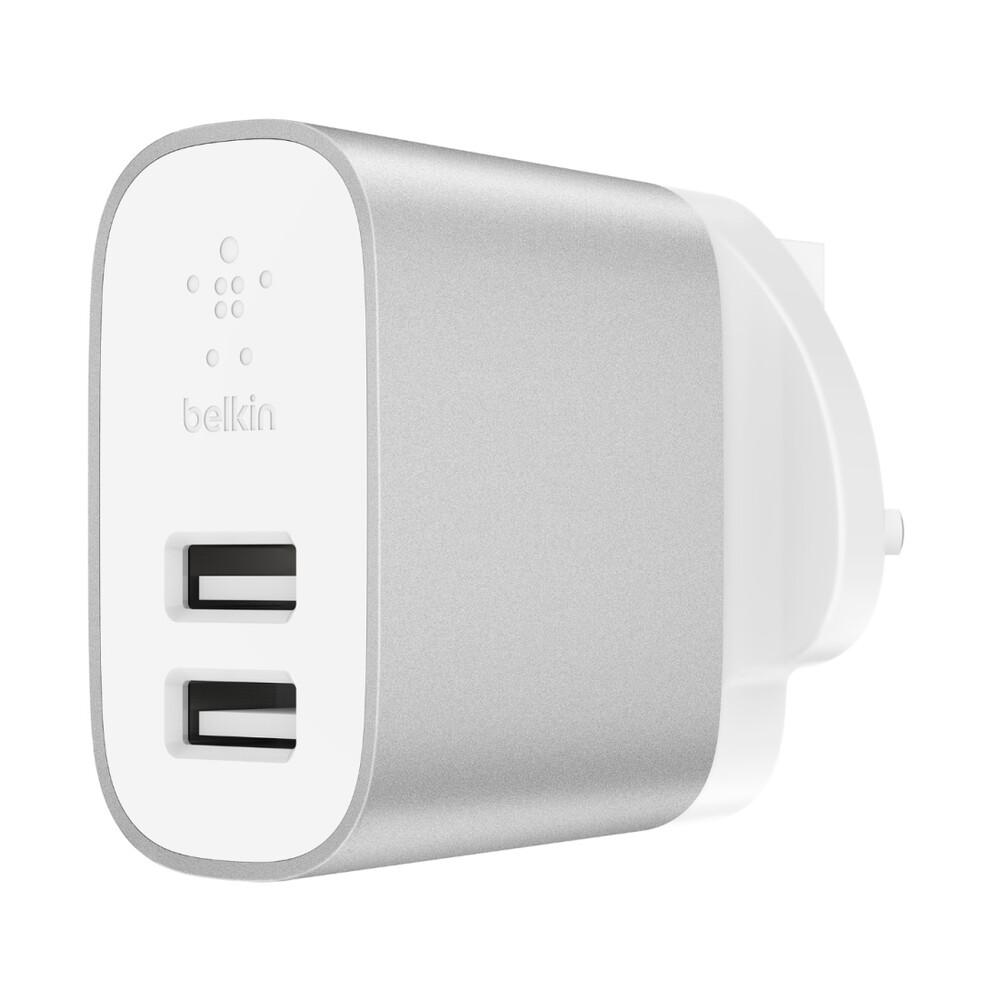 Зарядное устройство Belkin Wall Charger Dual USB Silver 24W