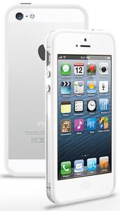 Купить Прозрачный бампер с белым ободком для iPhone 5/5S/SE