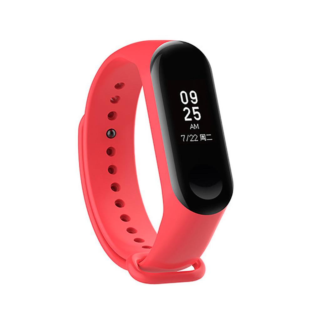 Купить Силиконовый ремешок iLoungeMax для фитнес-браслета Xiaomi Mi Band 3 | 4 Red