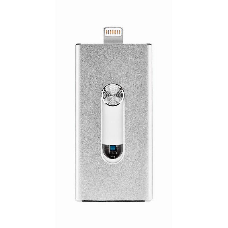 Программа для Iphone Ipad Ipod: USB-флешка Binchu FlashDrive 16GB Silver для IPhone/iPad