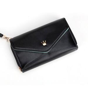 Купить Черный женский кошелек Crown для iPhone, iPod Touch