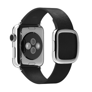 Купить Ремешок Apple 38mm Black Modern Buckle (MJY82) Medium для Apple Watch Series 1/2/3