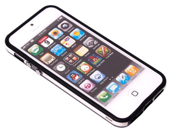 Двухцветный черный бампер для iPhone 5/5S/SE