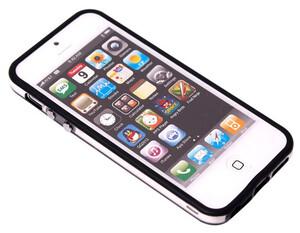 Купить Двухцветный черный бампер для iPhone 5/5S/SE