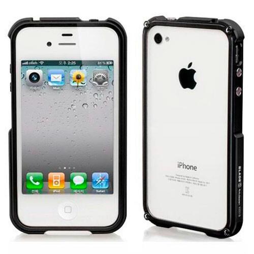 Blade Aluminium Bumper Black для iPhone 4/4S