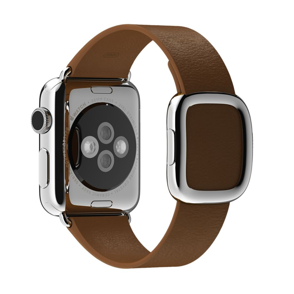 Ремешок Apple 38mm Brown Modern Buckle (MJ552) Medium для Apple Watch Series 1/2
