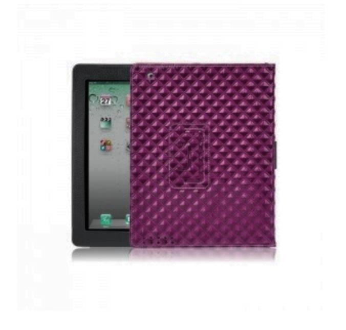 Купить Фиолетовый кожаный чехол oneLounge BRUNO для iPad 2 | 3 | 4