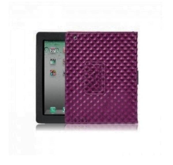 Фиолетовый кожаный чехол iLoungeMax BRUNO для iPad 2   3   4