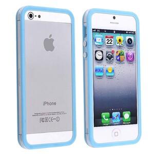 Купить Прозрачный бампер с голубым ободком для iPhone 5/5S/SE