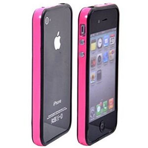 Купить Двухцветный бампер Apple для iPhone 4/4S Розовый/черный