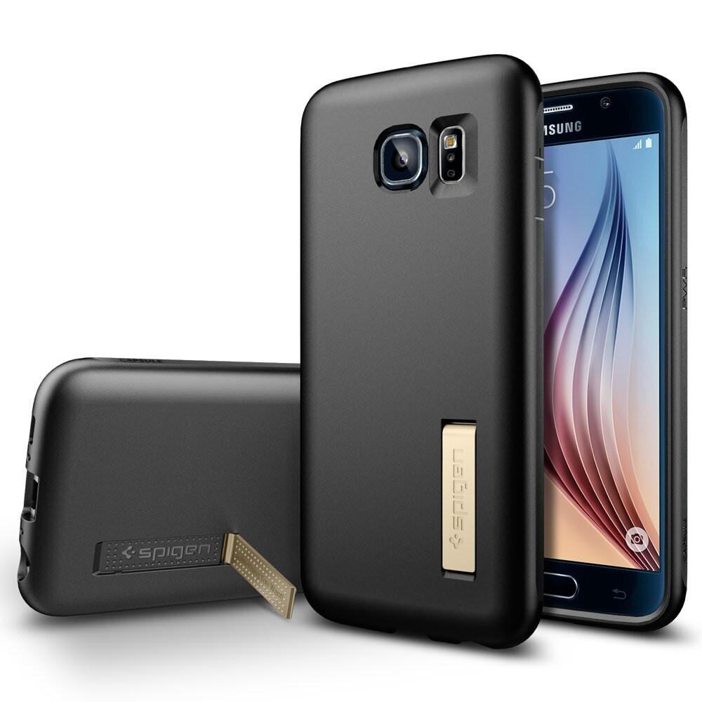 Чехол Spigen Capsule Solid Black для Samsung Galaxy S6